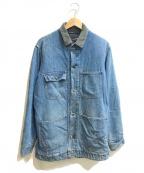 Sears(シアーズ)の古着「[古着]ブランケットデニムカバオールジャケット」|ブルー