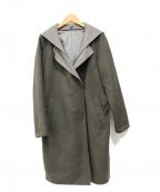 LAUTRE AMONT(ロートレアモン)の古着「ダブルビーバー2WAYコート」 オリーブ グレー