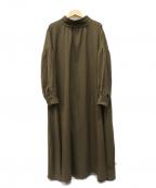 kelen(ケレン)の古着「ブラウスワンピース」 オリーブ