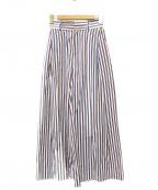ticca(ティッカ)の古着「マルチストライプワイドパンツ」 マルチカラー