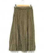MORRIS&SONS(モリスアンドサンズ)の古着「プリーツスカート」 オリーブ