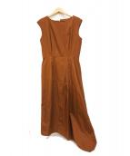 ()の古着「アシメドレス」 ブラウン