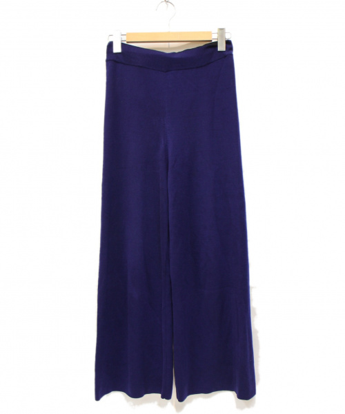 PS Paul Smith(PSポールスミス)PS Paul Smith (PSポールスミス) リヨセルウールニットパンツ ネイビー サイズ:Mの古着・服飾アイテム