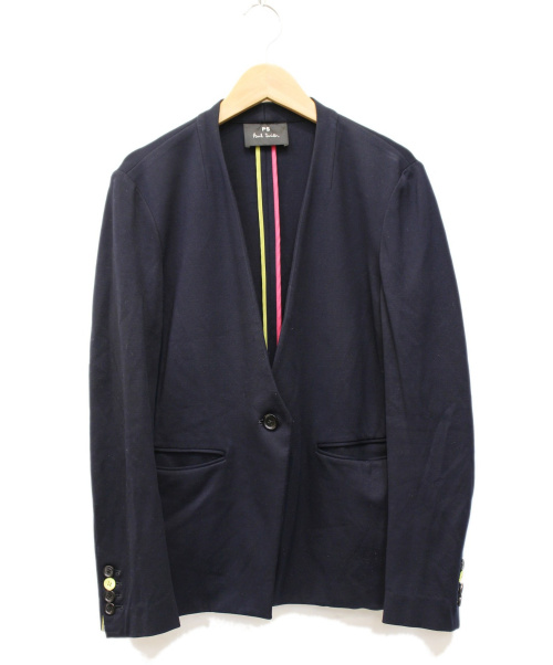 PS Paul Smith(PSポールスミス)PS Paul Smith (PSポールスミス) ミラノジャージーテーラリングジャケット ネイビー サイズ:40の古着・服飾アイテム