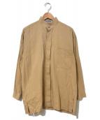 ISSEY MIYAKE(イッセイミヤケ)の古着「[OLD]タックスタンドカラーシャツ」|ベージュ