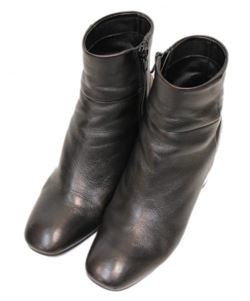 FABIO RUSCONI(ファビオルスコーニ)FABIO RUSCONI (ファビオルスコーニ) メタリックヒールブーツ ブラック サイズ:35の古着・服飾アイテム