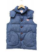 DANTON(ダントン)の古着「別注中綿ベスト」|ブルー