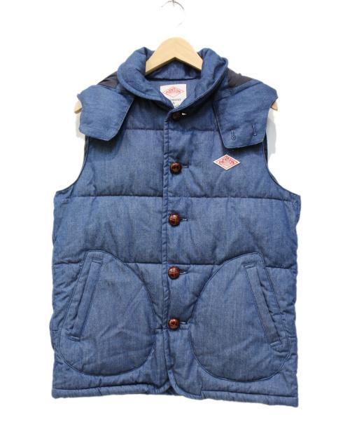 DANTON(ダントン)DANTON (ダントン) 別注中綿ベスト ブルー サイズ:38の古着・服飾アイテム