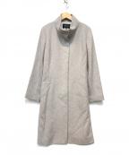 INDIVI(インディビ)の古着「カシミヤビーバースタンドカラーコート」|グレー