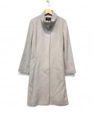 INDIVI (インディビ) カシミヤビーバースタンドカラーコート グレー サイズ:42