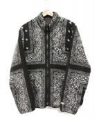 ()の古着「リバーシブルバンダナフリースジャケット」 ブラック