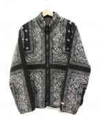 SUPREME(シュプリーム)の古着「リバーシブルバンダナフリースジャケット」 ブラック