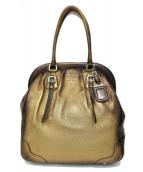 PRADA(プラダ)の古着「ラージトートバッグ」|ゴールド