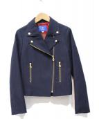 BLUE LABEL CRESTBRIDGE(ブルーレーベルクレストブリッジ)の古着「ライダースジャケット」 ネイビー
