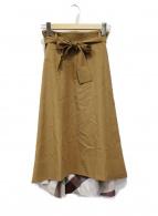 ()の古着「フレアスカート」 ベージュ