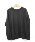 COLINA(コリーナ)の古着「Super 140s Washable Wool Sweat」|ブラック