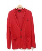 ()の古着「リネンニットジャケット」 レッド