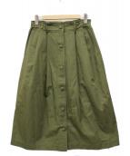 ()の古着「タックギャザースカート」 オリーブ