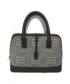 ()の古着「デザインチェックハンドバッグ」|グレー
