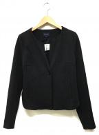 ARMANI JEANS(アルマーニジーンズ)の古着「ノーカラージャケット」|ブラック