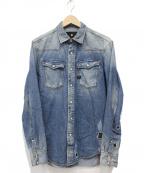 G-STAR RAW(ジースターロゥ)の古着「リメイクヴィンテージ加工デニムシャツ」|ブルー