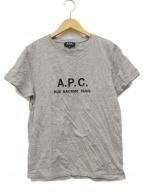 A.P.C.()の古着「ロゴ刺繍Tシャツ」|グレー