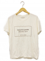 beautiful people()の古着「100/2 jersey top tag-T」|ホワイト