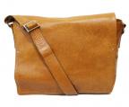 土屋鞄(ツチヤカバン)の古着「フラップレザーショルダーバッグ」 ベージュ