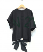 N°21 numero ventuno(ヌメロヴェントゥーノ)の古着「ロゴリボンデザインカットソー」|ブラック