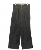 SHAREEF(シャリーフ)の古着「デニムワイドパンツ」 ブラック