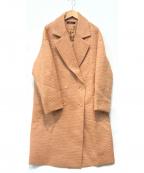 STUNNING LURE(スタニングルアー)の古着「モヘア・アンゴラ混コーティングシャギーコート」|ピンク