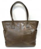 土屋鞄(ツチヤカバン)の古着「レザートートバッグ」 ブラウン