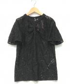 N°21 numero ventuno(ヌメロヴェントゥーノ)の古着「レースブラウス」|ブラック