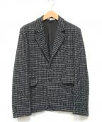 CARVEN(カルヴェン)の古着「エンボスチェックデザインテーラードジャケット」|ネイビー