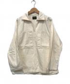 AT-DIRTY(アットダーティ)の古着「Fatigue Pullover Shirts」 アイボリー
