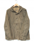 AT-DIRTY(アットダーティ)の古着「WORKERS JACKET BROWN HICKORY」