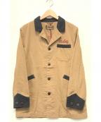 AT-DIRTY(アットダーティ)の古着「刺繍ワークジャケット」 ブラウン