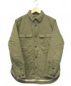 AT-DIRTY(アットダーティ)の古着「ヘリンボーン中綿シャツ」 オリーブ