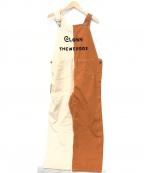 WEIRDO(ウィアード)の古着「CLOWN THE WEIRDOS - OVERALL」|ブラウン×アイボリー