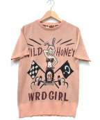 WEIRDO(ウィアード)の古着「ワイルドハニーガールジャガードニット」|ピンク