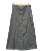 COMME des GARCONS()の古着「[OLD]多重生地カットオフロングスカート」 グレー