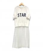 MUVEIL()の古着「チュール付きパーカー」|ホワイト