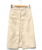ANAYI(アナイ)の古着「フェイクスウェードAラインスカート」|ベージュ