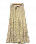 Plage(プラージュ)の古着「ツイルLOWフレアスカート」|カーキ