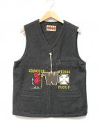 WEIRDO(ウィアード)の古着「FUCK U - VEST」|グレー