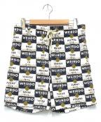 WEIRDO(ウィアード)の古着「WRD CANS - SHORTS」|ホワイト×ネイビー