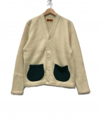 WEIRDO(ウィアード)の古着「バックロゴニットカーディガン」|アイボリー