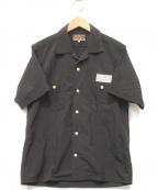 AT-DIRTY(アットダーティ)の古着「BOLD S/S SHIRT」 ブラック