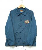 AT-DIRTY(アットダーティ)の古着「ワッペンコーチジャケット」 ブルー