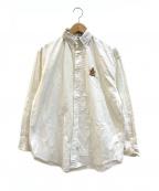 RALPH LAUREN(ラルフローレン)の古着「[古着]エンブレムロゴオックスフォードシャツ」 ホワイト